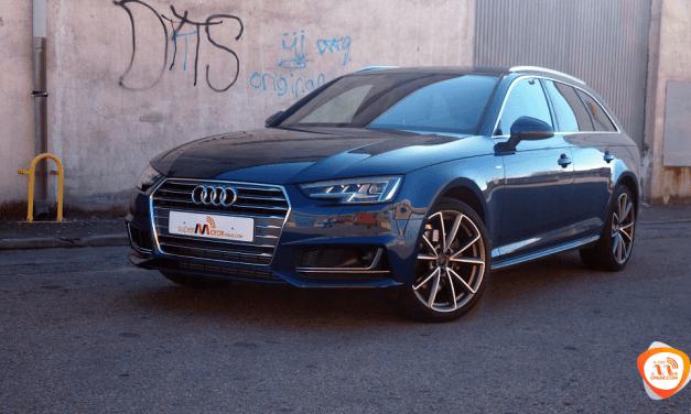 Al volante del Audi A4 Avant g-tron 2018