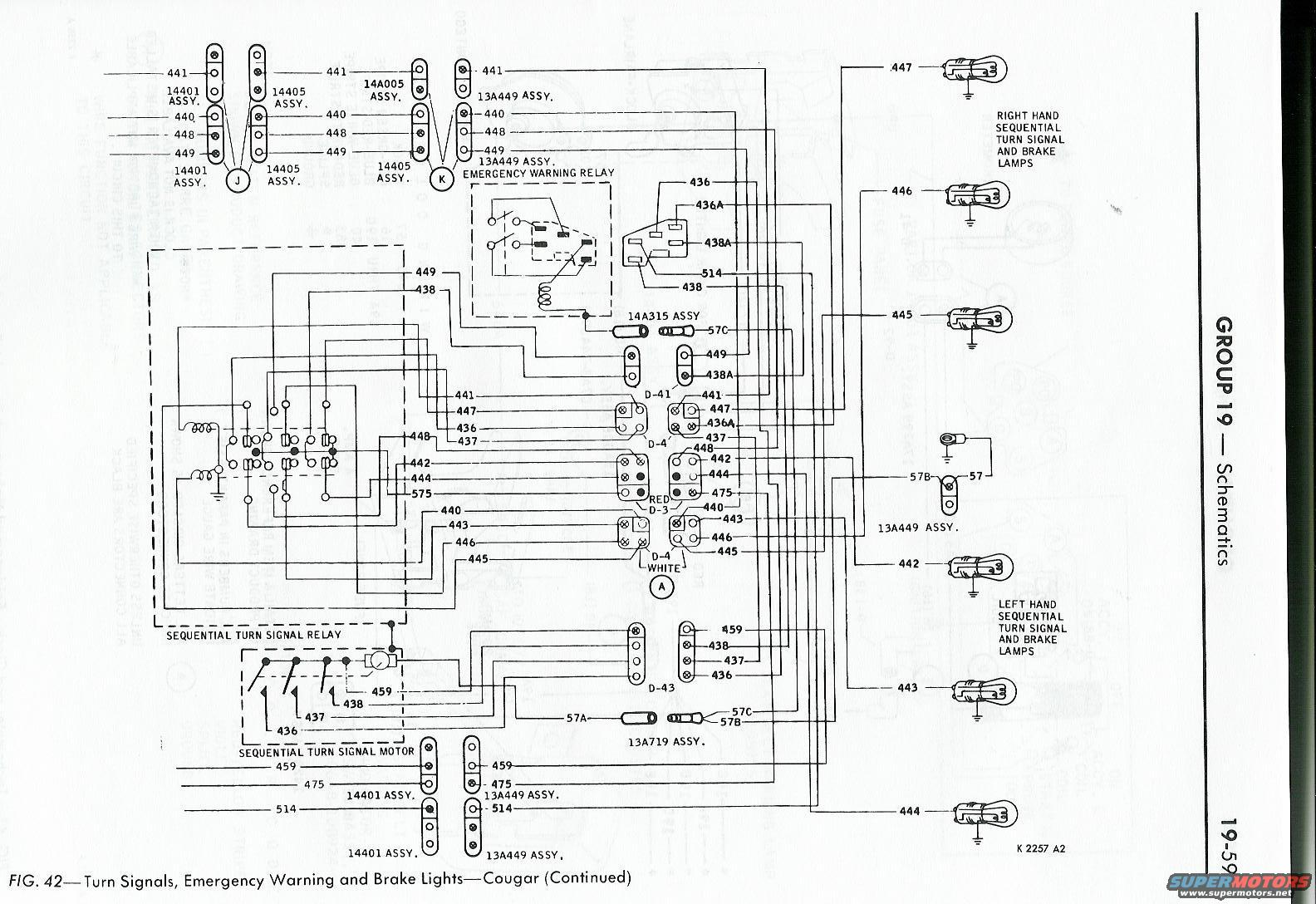 Mercury Cougar Car Wiring Diagram