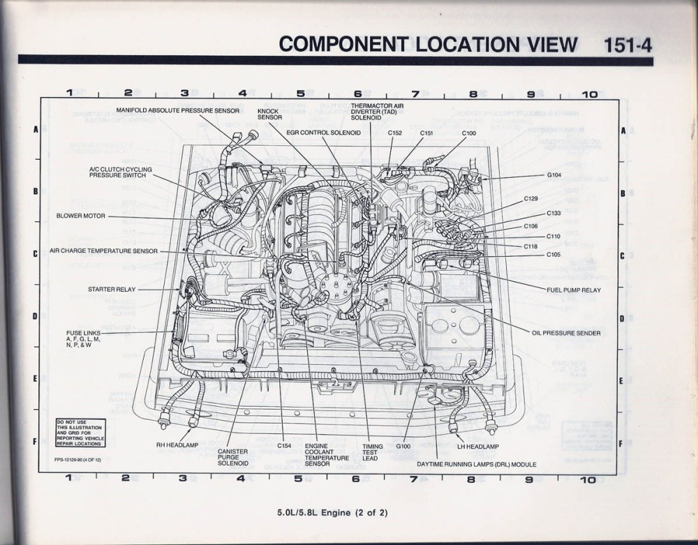 medium resolution of should be at the front rh fender apron in engine control harness similar to my 1990 below