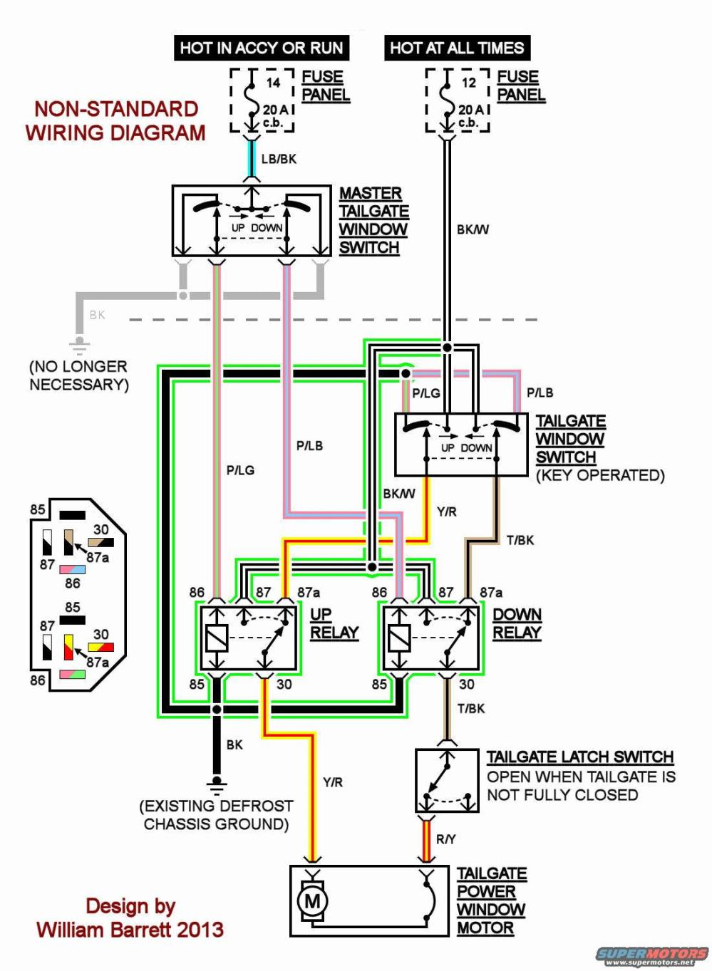medium resolution of i agree with steve83 that the problem is in isolating the power from the switches and using relays instead this diagram is similar to eighty5eddie s except