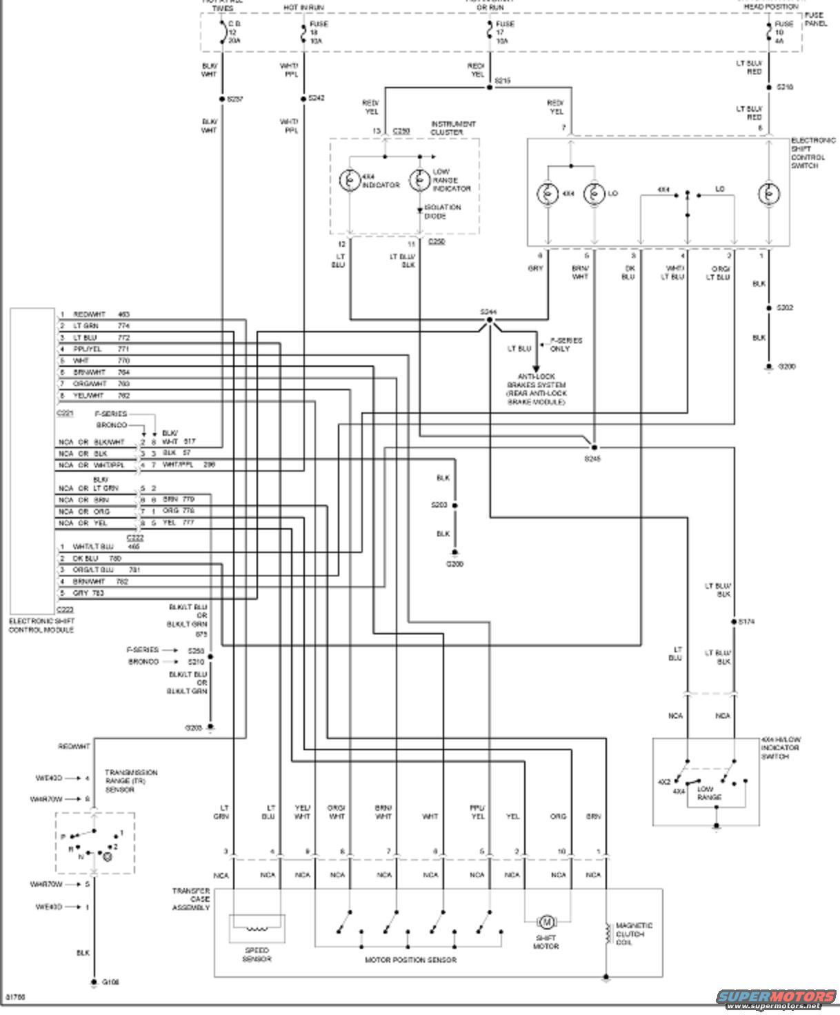 1992 ford bronco radio wiring diagram