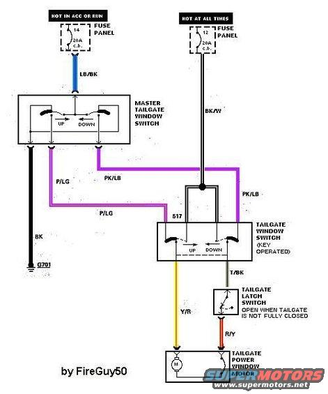 1983 Ford F 150 Wiper Switch Wiring Diagram 1983 Ford Bronco Tailgate Tech Picture Supermotors Net