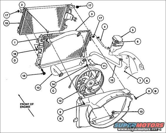 2003 Ford Taurus Radiator Hose Diagram, 2003, Free Engine