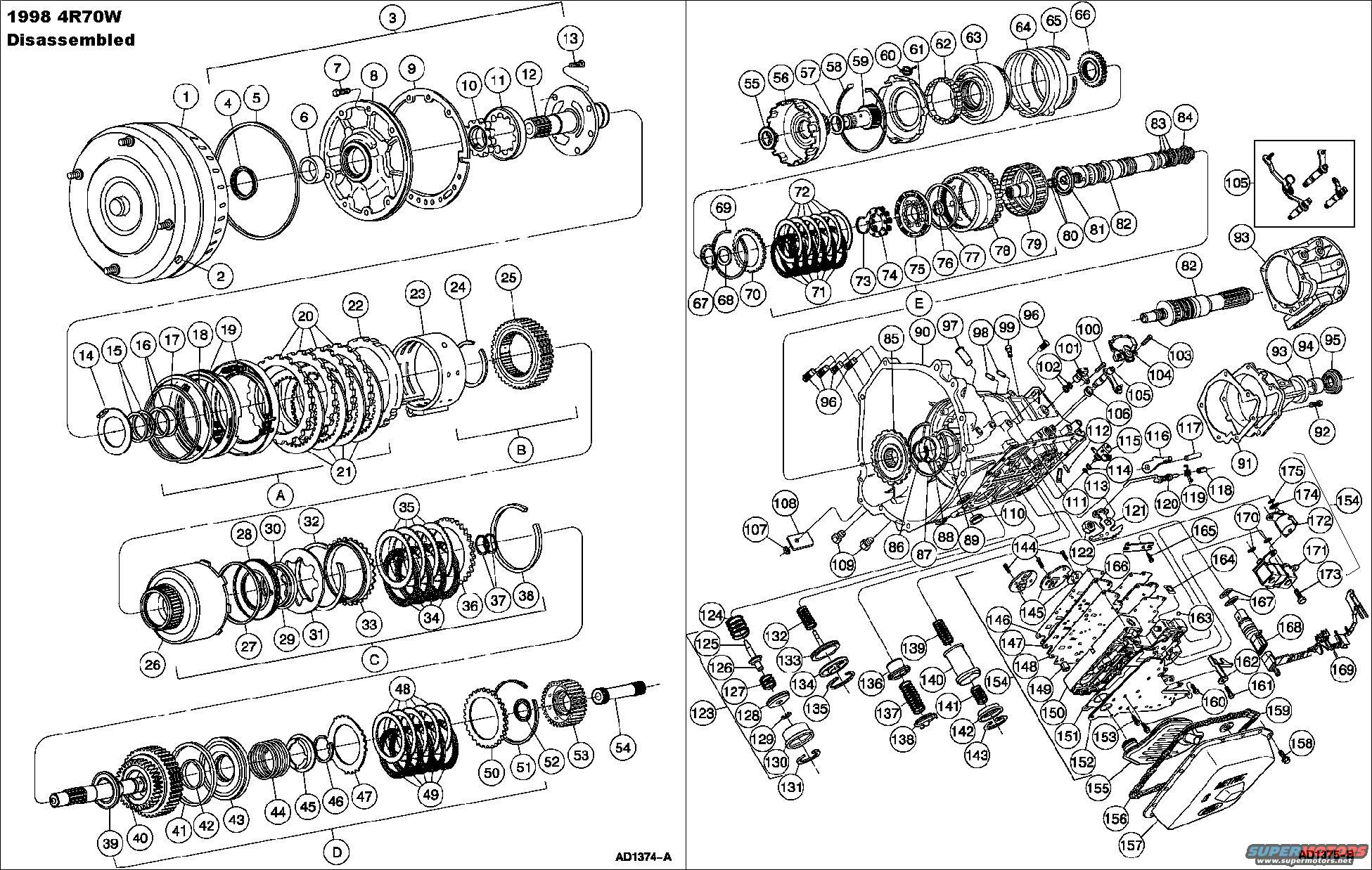 ford 4r70w transmission diagram free wiring diagrams weebly shift solenoid a location get