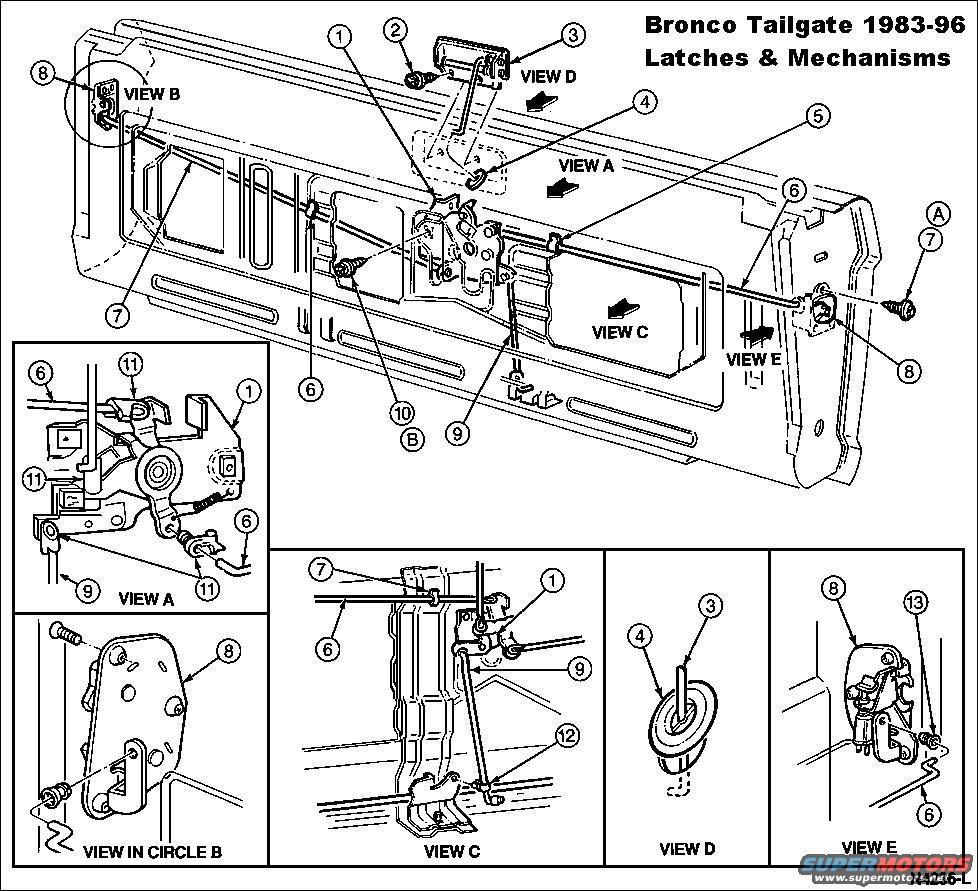 toyota tailgate diagram