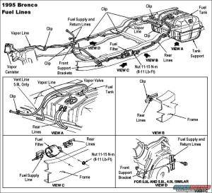 1983 Ford Bronco '9096 Fuel Pump System picture