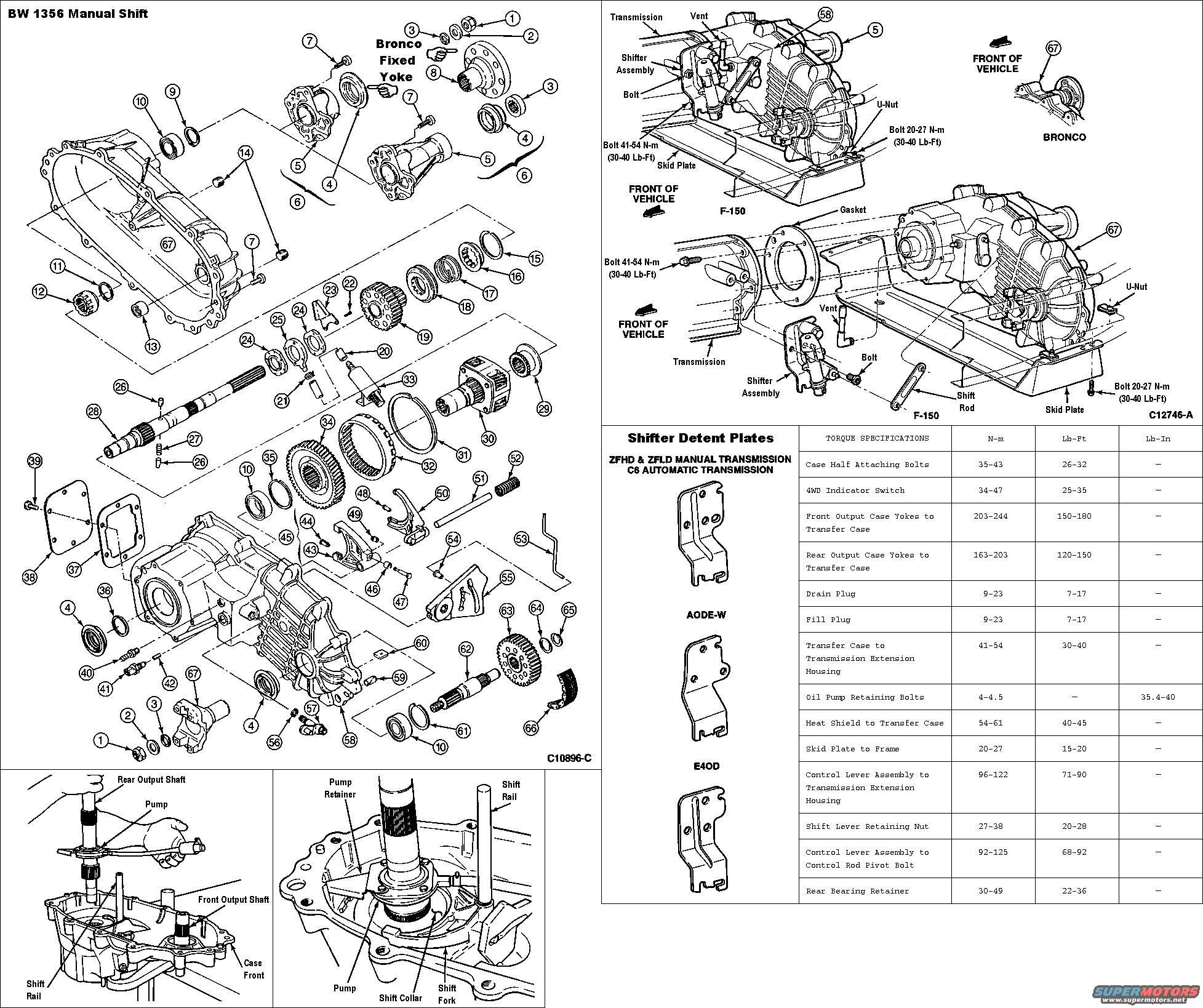 95 Ford F 250 Transfer Case Parts Diagram, 95, Free Engine