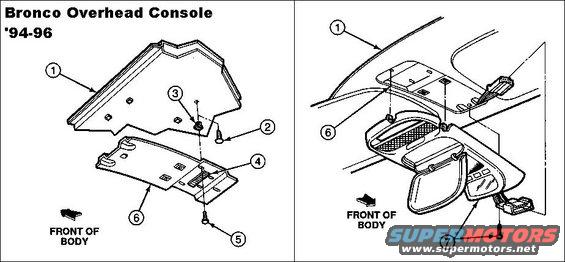 1983 Ford Bronco Overhead Console & Dual Visors picture