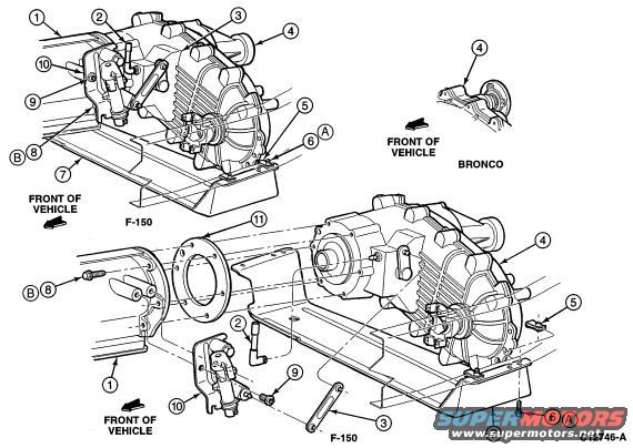 1990 Ford bronco transfer case problems