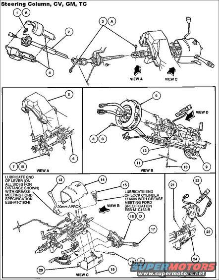 1994 Ford Crown Victoria Steering Column pictures, videos