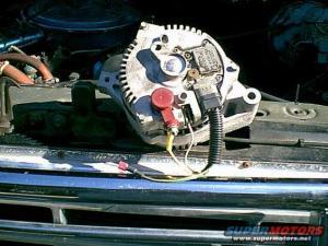 Installing HD alternator in 95 F350460  Ford Truck