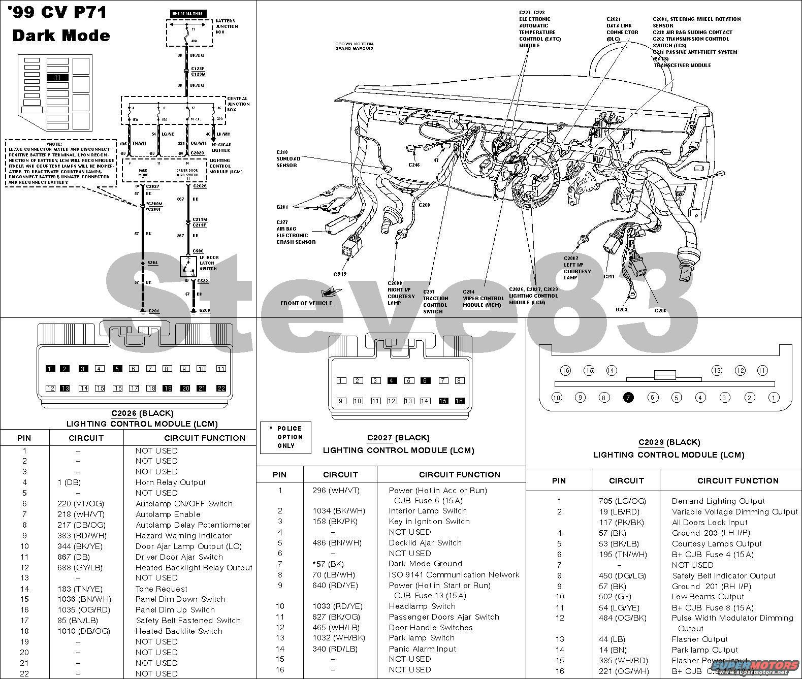 Ford Crown Victoria Tech Diagrams Picture