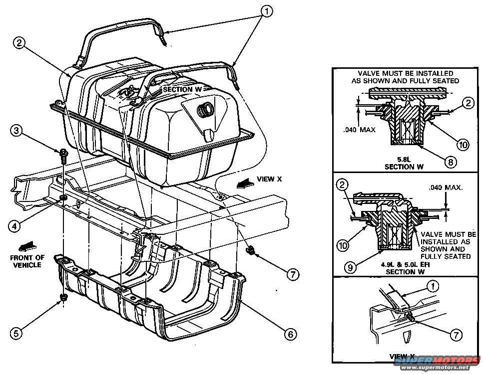 1988 Ford Bronco Fuel System Diagram