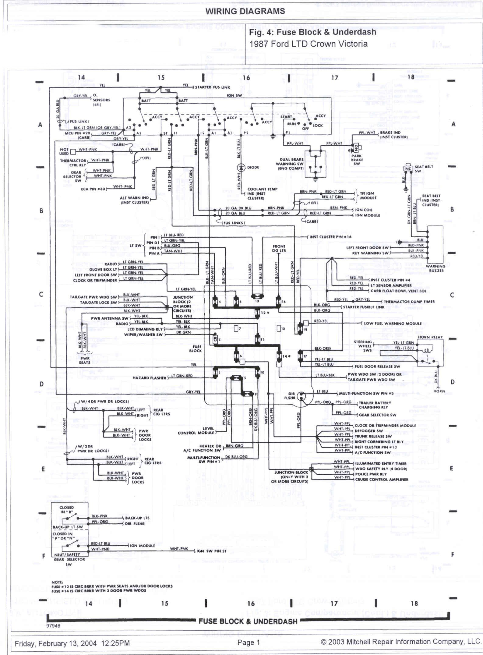 hight resolution of 1985 ford crown victoria ltd wire diagrams picture ford crown victoria fuse box legend