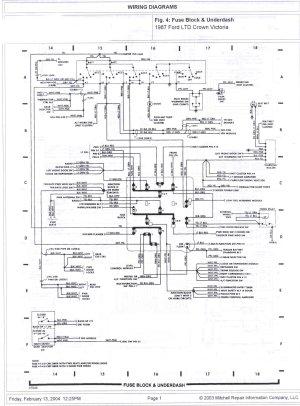 1985 Ford Crown Victoria LTD Wire Diagrams picture