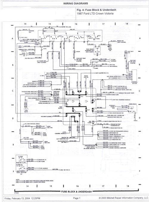 small resolution of 1985 ford crown victoria ltd wire diagrams picture ford crown victoria fuse box legend