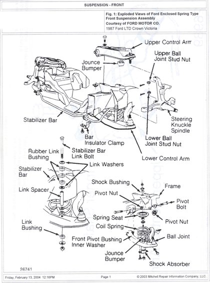 2000 Ford Taurus Front Strut Diagram, 2000, Free Engine