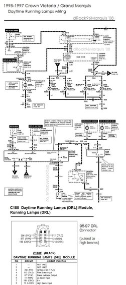 1996 Mercury Grand Marquis Panther LCM / lighting circuits