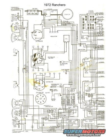 1972 Ford ranchero wiring diagram