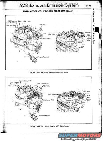 78 Bronco 351m Engine Vacuum Diagrams