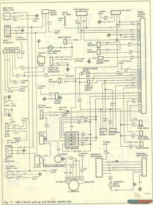 1986 Ford Bronco Wiring Diagrams picture | SuperMotors