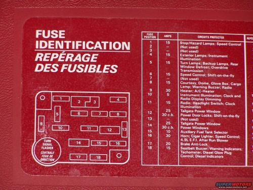 small resolution of 89 full size ford bronco fuse panel diagram
