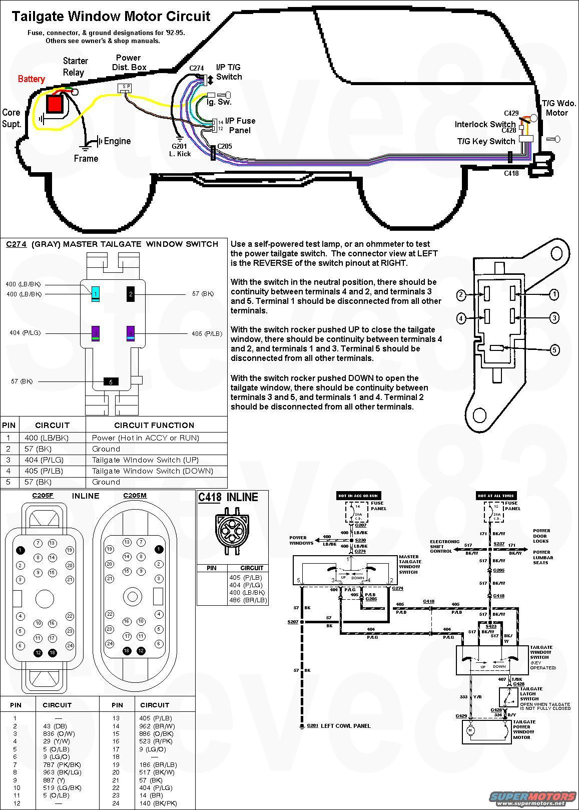 1993 ford ranger fuel pump wiring diagram ge shunt trip circuit breaker 1983 bronco tailgate tech picture | supermotors.net