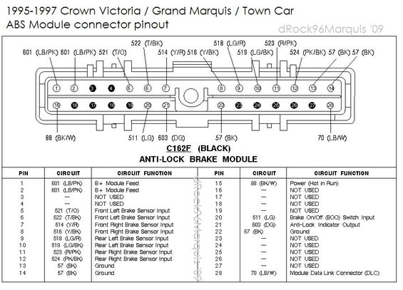 96 Jeep Grand Cherokee Factory Amp Wiring Diagram 1996 Mercury Grand Marquis Panther Body Chassis Misc