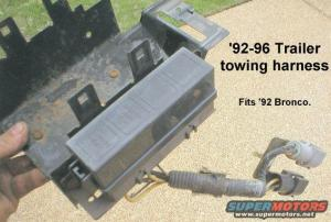 trailer tow wiring (once again)  Ford Bronco Forum