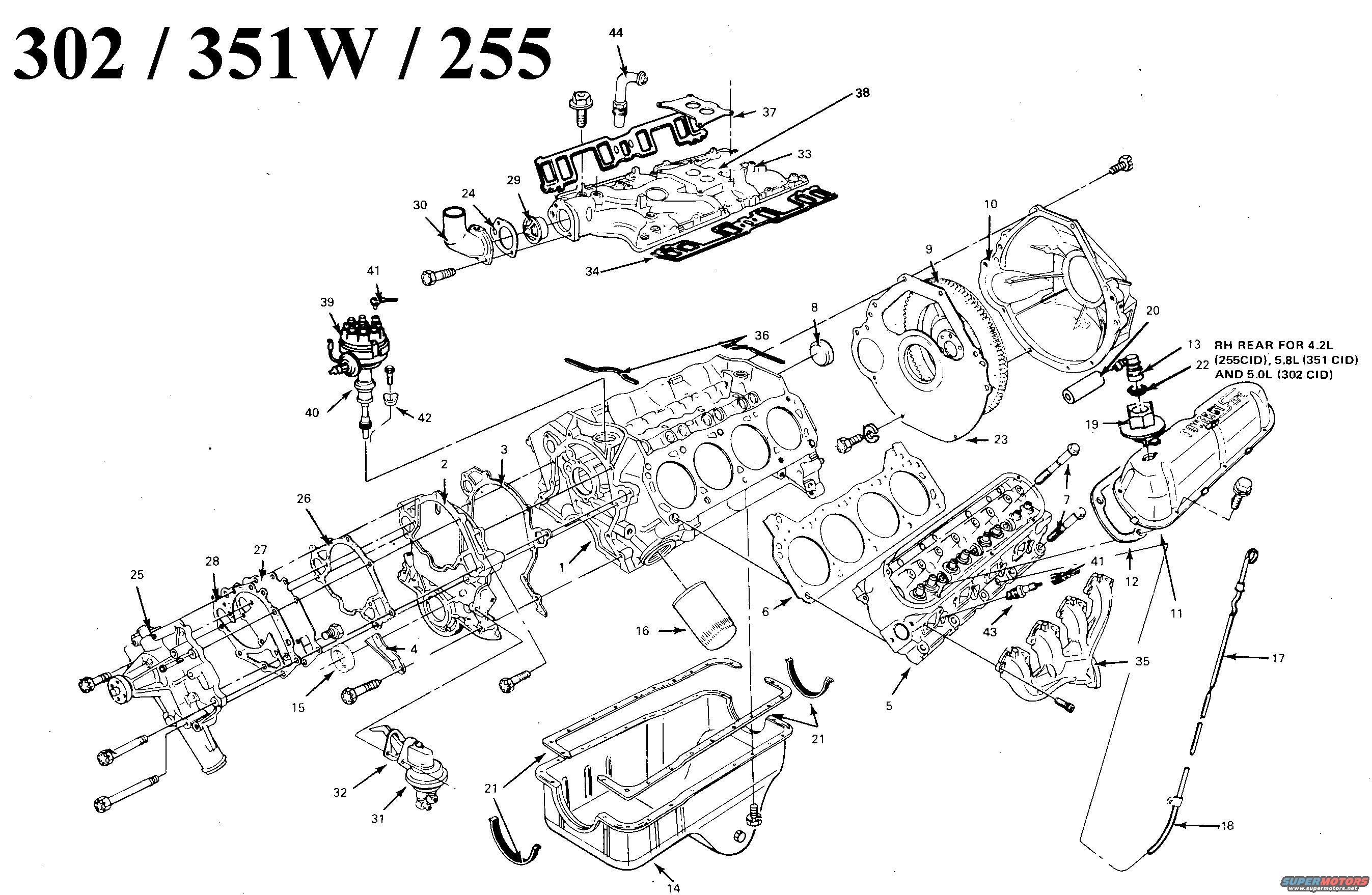 Ford 351 Engine Diagram