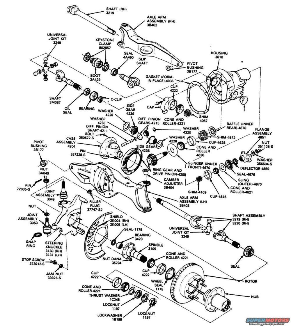 medium resolution of dana 44 rear axle diagram