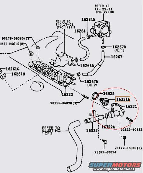Thermostat Location For 2001 Lexus Es300, Thermostat, Free
