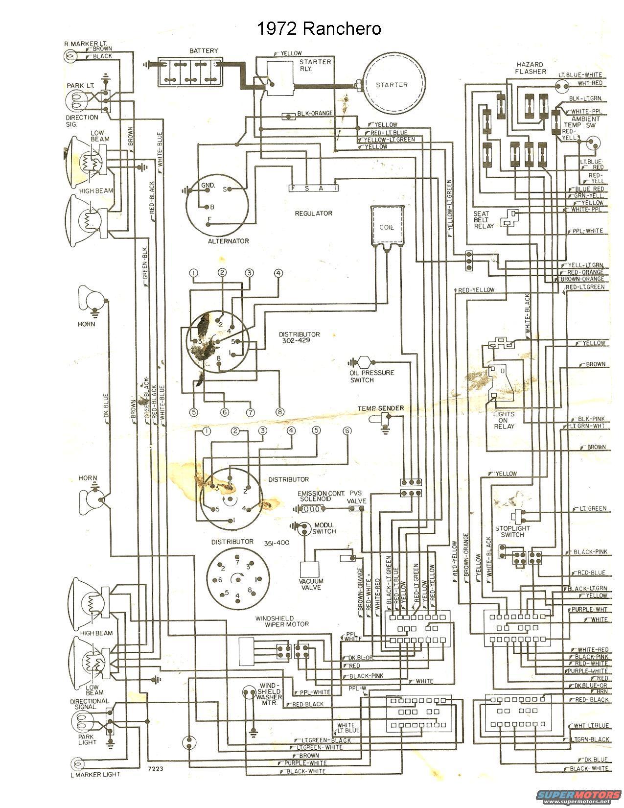 1972 ford ranchero wiring diagrams