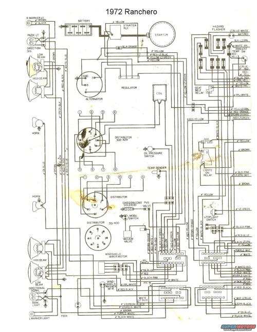 small resolution of 72 76 wiring diagrams ranchero us 1972 ford alternator wiring diagram 1972 ford wiring diagram