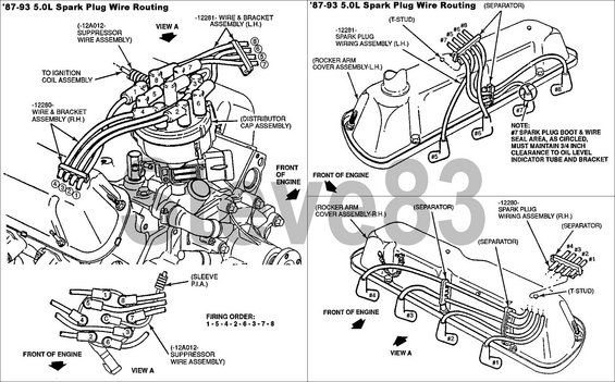 ford 302 spark plug wire diagram