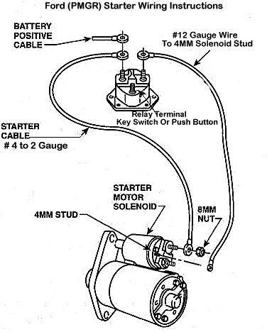 car starter motor wiring diagram of a 3 way switch general motors all data electric ford