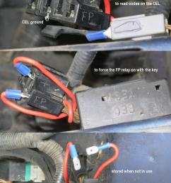 or use the info in the previous caption to id the wires yank out the relay and install a relay in its socket to bypass the eec relay so the pumps  [ 1400 x 2300 Pixel ]