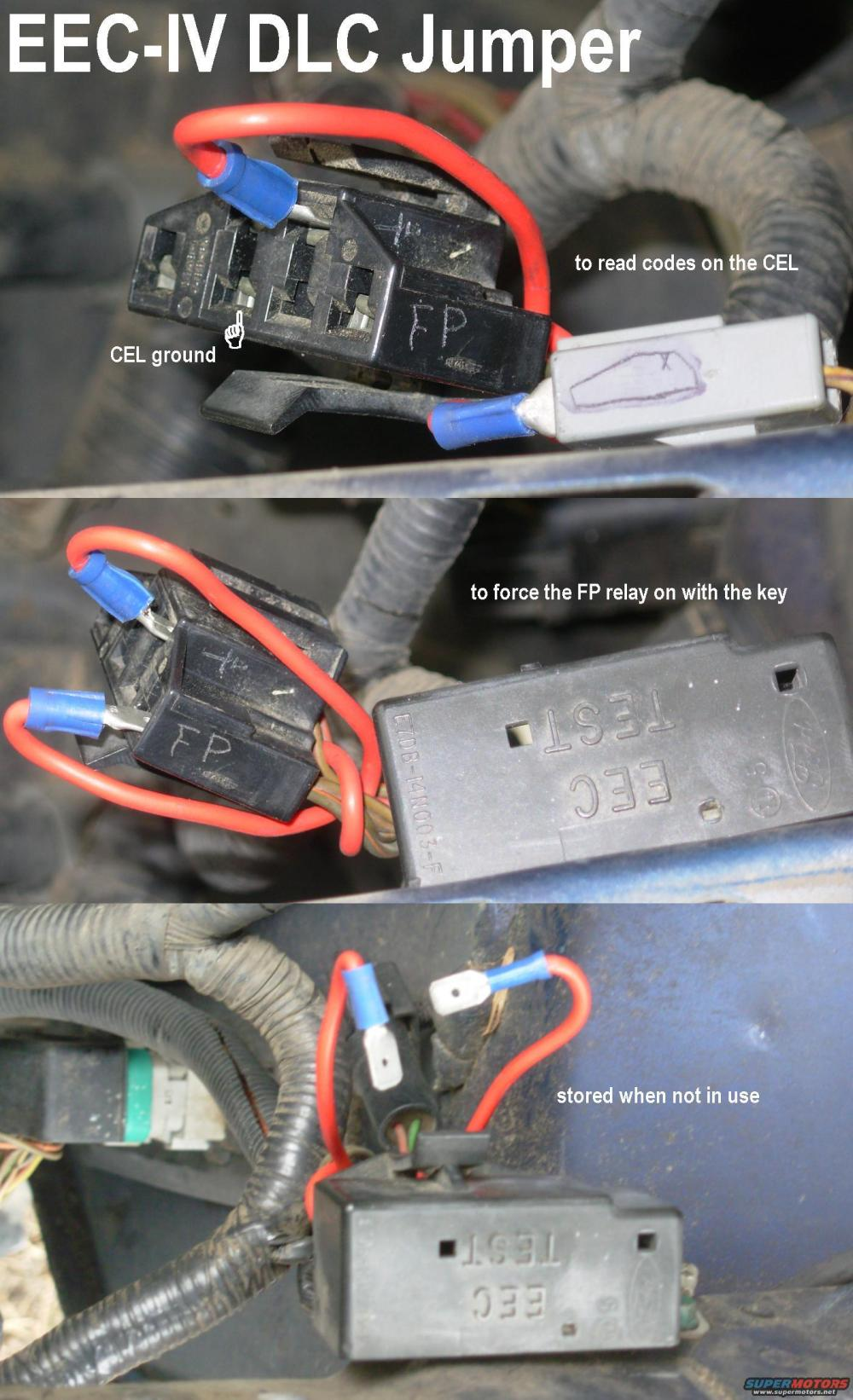 medium resolution of  or use the info in the previous caption to id the wires yank out the relay and install a relay in its socket to bypass the eec relay so the pumps