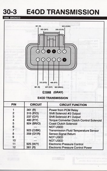 1996 Ford Transmission Wiring Diagram Schematic 1994 Bronco E4od Mlps Replacement Ford Bronco Forum