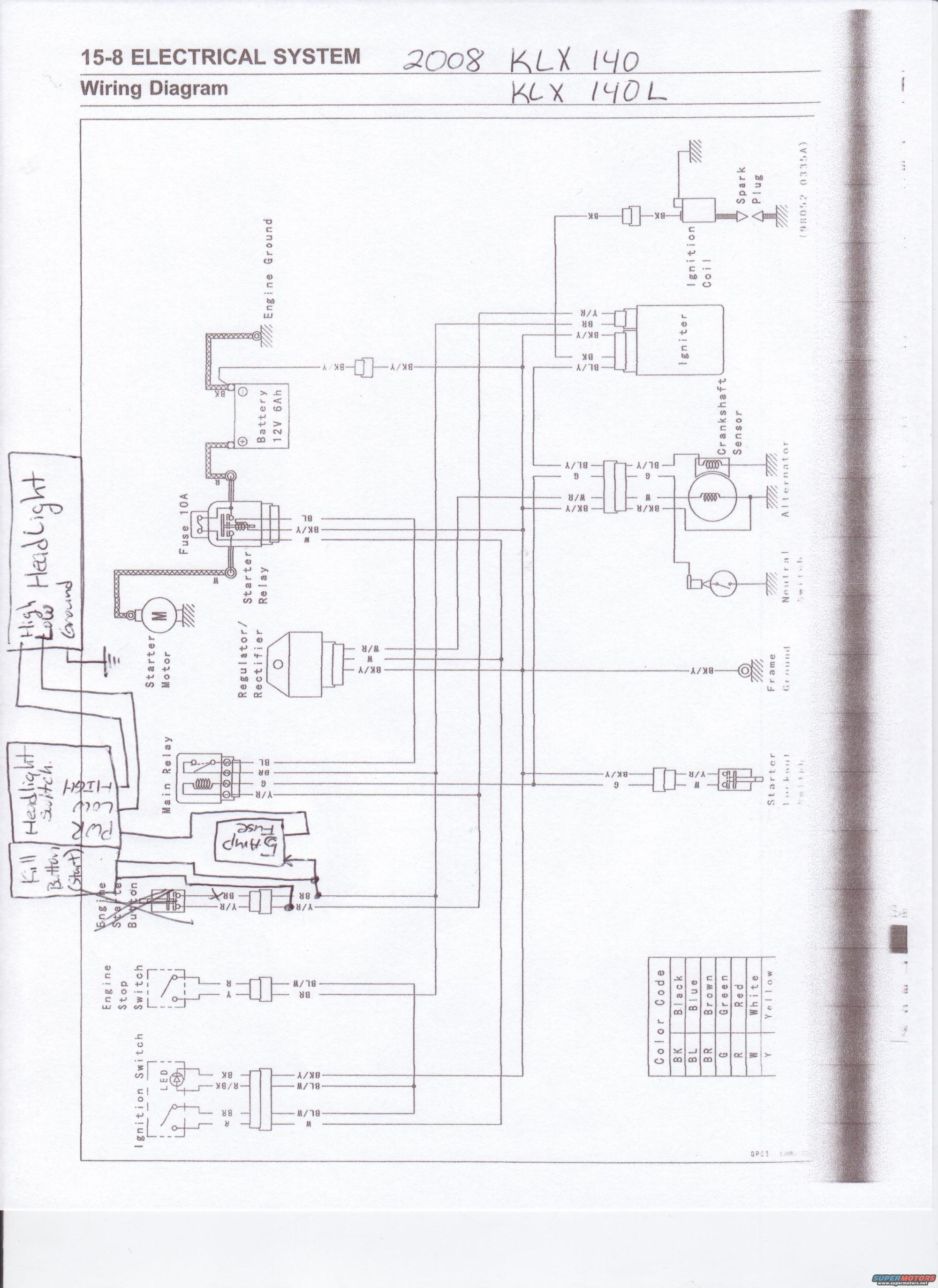 hight resolution of klx 140 wiring diagram