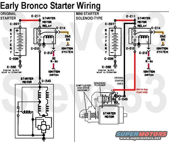 high torque starter wiring diagram ford