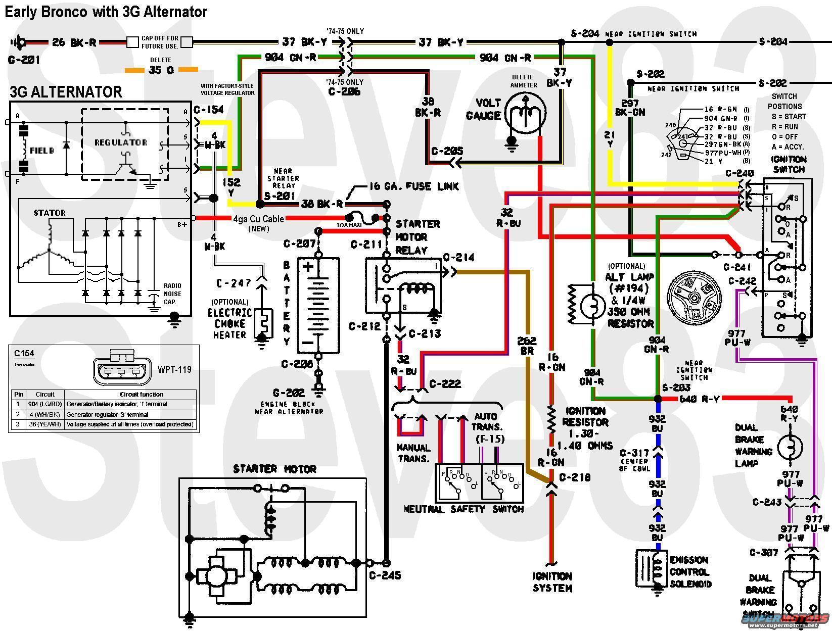 early bronco wiring diagram 2004 klr 650 restoration