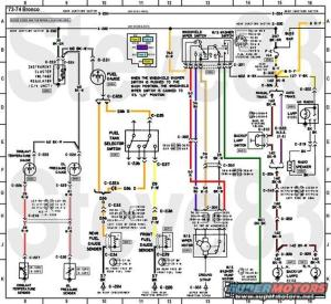 1976 Ford Bronco Tech Diagrams picture | SuperMotors