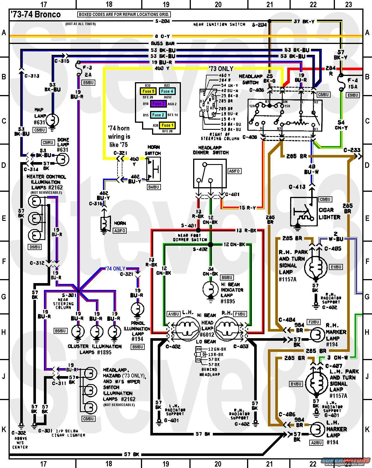 early bronco wiring diagram for immersion heater on painless harness turn get