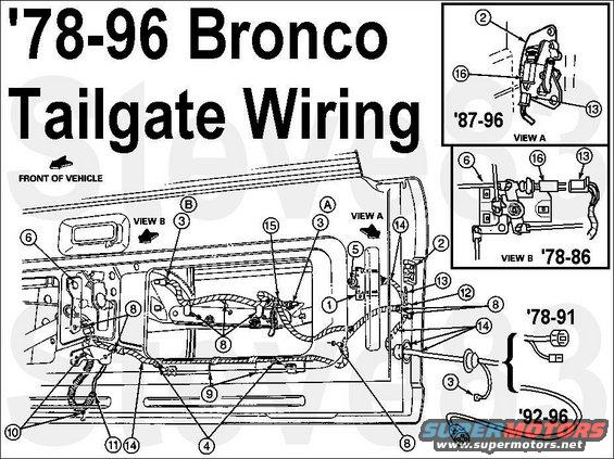 1986 Ford Bronco Tailgate Wiring Harness. Ford. Auto