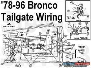 1995 Ford bronco tailgate switch