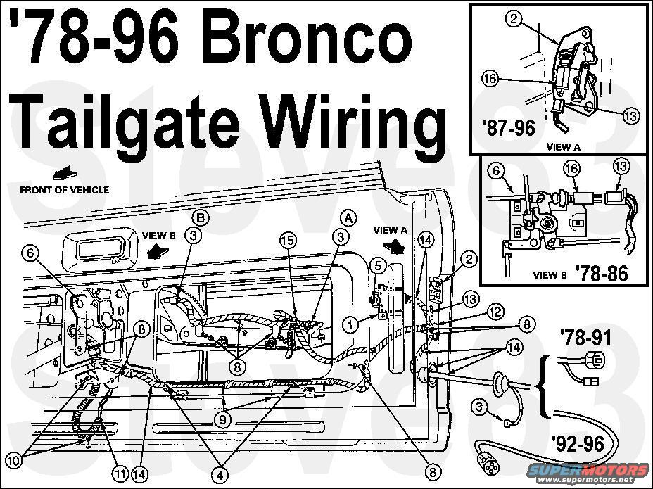 Ford bronco tailgate window problem