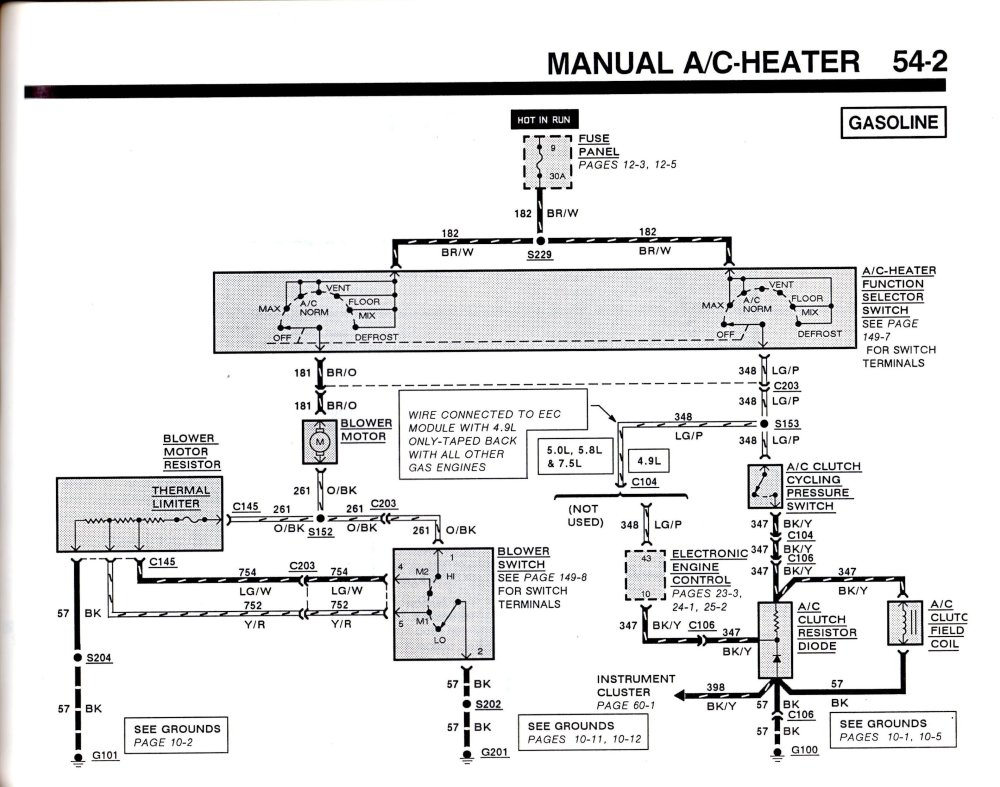medium resolution of 1990 ford f 150 ac wiring diagram schema wiring diagram99 f150 ac heater wiring diagram wiring