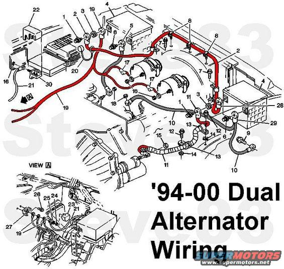 1997 Chevrolet Silverado 3500 Dual Alternator Bracket