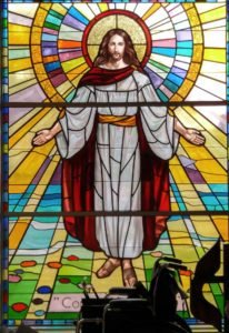 Jesus on stained glass